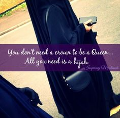 ❤❤❤Wear a hijab and be the Queen of Islam❤❤❤ Islamic Status, Islamic Qoutes, Islamic Messages, Islamic Inspirational Quotes, Islamic Images, Women In Islam Quotes, Islam Women, Muslim Quotes, Hijab Quotes