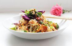 Delicious & Gluten Free: Sesame King Prawn Noodles (Spiralized)