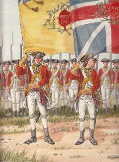 The Ensigns of 57th Regiment of Foot 1775 by OrlopRat on deviantART(aka Thomas Payton)