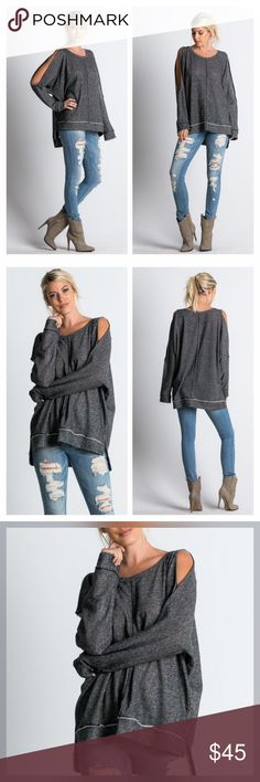 Spotted while shopping on Poshmark: New Arrival! Cold Shoulder Cutout High Low Tunic! #poshmark #fashion #shopping #style #Tops
