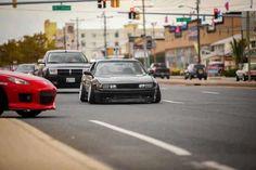 This S13 looks mean as f_ck! #nissan #s13 #240sx #driftcar #drifting #camber #driftsick #braggenrites