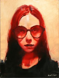"""Michael Carson- """"Straight Through You""""- Contemporary Artist - Figurative Painting"""