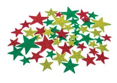 These Adhesive Xmas Stars are the perfect Christmas decoration for either your gifts, cards or ornaments!
