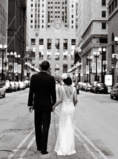 La Salle Street in Chicago. Makes me wish I were getting married in the city.