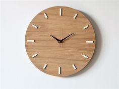 dodatki - zegary-40 cm, zegar ścienny, DĄB, nowoczesny zegar,