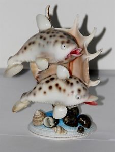 sea-shell-funny-dolphin-statue-decor-shells-sculpture-FIGURINE-1pcs-new-funky