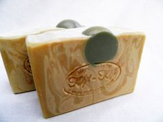 Tipsy Hippy Soap Lavender and Mint All Natural Vegan  Hand Made Homemade Spearmint Castile Essential Oils Hemp Milk Beer Clay Palm Oil Free