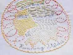 drop cloth: Stitch Sampler of the Month: Running Stitches