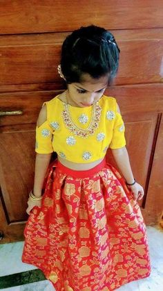 Kids outfits - Kids outfits - Source by malachiolsonferry Blouses Kids Party Wear Dresses, Kids Dress Wear, Kids Gown, Dresses Kids Girl, Kids Outfits, Baby Lehenga, Kids Lehenga Choli, Kids Indian Wear, Kids Ethnic Wear
