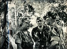 Portuguese General Antonio de Spinola (second from left) with officers in Guinea Jungle - African Colonial War 1969