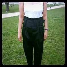 *Nasty Gal* black high waisted harem pants High waisted harem pants comes with belt. Pleated a little for harem look. Skinny pant leg. Nasty Gal Pants Skinny