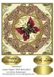 Splendour Large Topper With Butterfly 6