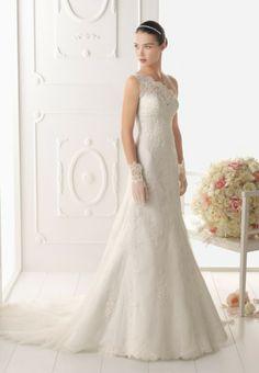 Tendências #Noivas 2014 - Vestidos de uma alsa #AireBarcelona #casarcomgosto #renda
