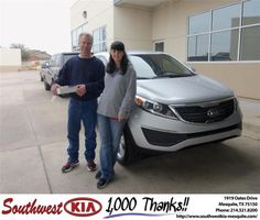 #HappyAnniversary to Michael Houser on your 2013 #Kia #Sportage from Constatine Boury at Southwest Kia Mesquite!