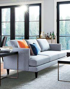 "Home | Sofas | Davenport 70"" Condo Sofa with Micro Gel Seating | Hudson's Bay Home Living Room, Sofas, Condo, Furniture, Sweet Stuff, Home Decor, Lounges, Quartos, Couches"