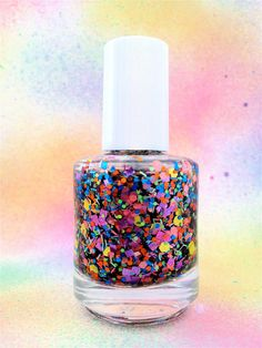 Dippin Dots :  Custom-Blended Glitter Nail Polish / Lacquer. $8.75, via Etsy.