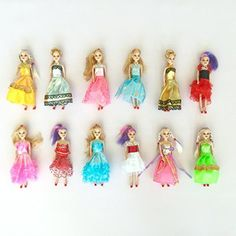 Miniature Barbie doll 12 pack playset bundle with princess and fashion clothes accessories Great for birthday party favors tea parties and dollhouses 6 tall >>> Continue to the product at the image link-affiliate link. Barbie Doll Set, Vintage Barbie Dolls, Barbie Toys, Barbie Life, Barbie Stuff, Barbie Birthday, Barbie Party, Princess Birthday, Barbie Princess
