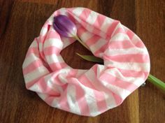 Striped Pink Infinity Scarf for girls by SissyandTodo on Etsy, $18.00