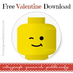 #LEGO Valentine Minifig Free Writing Prompts