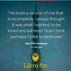 The Nightingale by Kristin Hannah Kristin Hannah, Wonder Quotes, Life Words, Literary Quotes, Nightingale, Book Quotes, Beautiful Words, Things To Think About, My Books