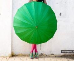 great pose umbrellas, color, green umbrella