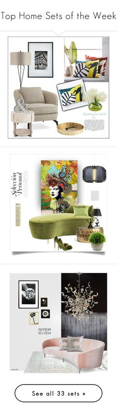 """Top Home Sets of the Week"" by polyvore ❤ liked on Polyvore featuring interior, interiors, interior design, home, home decor, interior decorating, Conran, West Elm, Eichholtz and Pottery Barn"