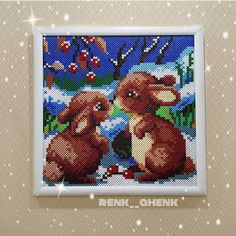 Winter scene hama beads by renk__ahenk