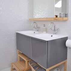Moderne weiße Badezimmer mit Waschtisch Wohnideen Badezimmer Living Ideas Bathroom