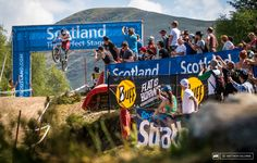 Rachel Atherton bringing it home for a roaring crowd. Atherton took win number three today.