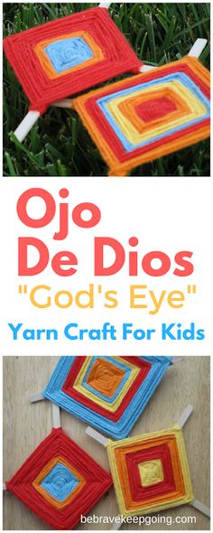 Ojo De Dios or God's Eye Craft For Kids Crafts for teens to make Summer Arts And Crafts, Arts And Crafts For Adults, Crafts For Teens To Make, Easy Arts And Crafts, Crafts For Seniors, Arts And Crafts Supplies, Spring Crafts, Mexican Crafts Kids, Camping Crafts For Kids