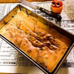 Cutting the middle of cake after 15min during baking in the Oven! #mizumushikun #marmorkuchen #bake #baking #rewe #cake #sweets #food #foodie #alien  #aliencooking