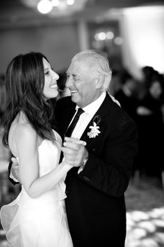 style me pretty - real wedding - usa - california - santa monica wedding - bride & father - dance