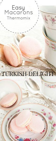 Thermomix Turkish Delight Macarons - Something sweet for that someone special! Szechuan Recipes, Thermomix Desserts, Thermomix Scones, Bellini Recipe, Gnocchi Recipes, Tagine Recipes, Macaron Recipe, Turkish Delight, Turkish Recipes
