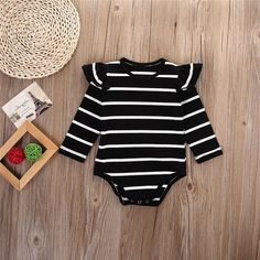 buy Infant Baby Long Sleeve Striped Rompers Autumn Winter Clothing Wear Newborn Kids Baby Girl Jumpsuit ChicTutu Clothes Outfit from importexpress with wholesale price. Winter Newborn, Baby Winter, Newborn Winter Clothes Girl, Baby Girl Fashion, Kids Fashion, Fashion Games, Baby Girl Jumpsuit, Cheap Kids Clothes, Kids Clothing