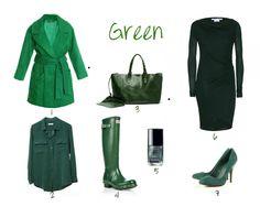 Emerald green clothes