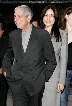 """Singer / songwriter / dichter Leonard Cohen en Anjani Thomas verwacht dat de Los Angeles première van de film """"Leonard Cohen Ik ben Your Man 'op 24 juni 2006 om ..."""