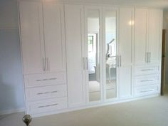 Bespoke off-white fitted wardrobes in Lindfield, Nr Haywards Heath, West Sussex Bedroom Closet Design, Master Bedroom Closet, Bedroom Wardrobe, Wardrobe Design, Built In Wardrobe, Bedroom Storage, Bedroom Wall Units, Bedroom Built Ins, Bedroom Cupboards