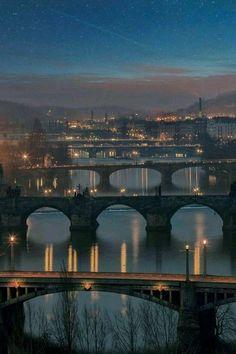 Puentes sobre el Moldava, Praga República Checa