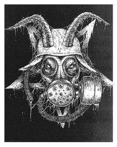 Mark Riddick, satan and gas mask, two of my favorite things together ,,/