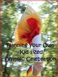 Tons of details and fun ideas for hosting your own Olympic party & activities for the kids!