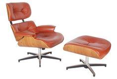Eames-Style Lounge  Chair &  Ottoman
