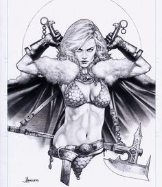 Red Sonja by Jay Anacleto Charity Auction piece for 2018 Comic Art Comic Book Artists, Comic Artist, Comic Books Art, Red Sonja, Fantasy Women, Fantasy Art, Illustration Fantasy, Character Art, Character Design