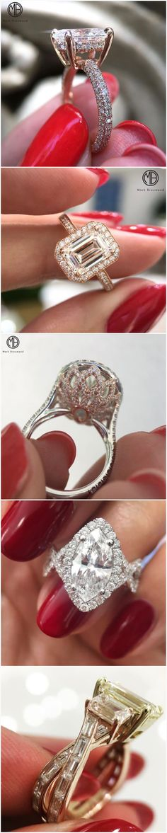 Gorgeous engagement rings by Mark Broumand #engagementRings
