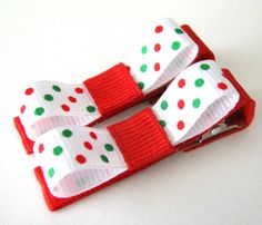 So Simple and cute. Christmas bows