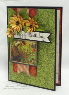 Aspiring to Creativity: French Country Birthday Card Graphic 45, Scrapbooking, Scrapbook Cards, Happy Birthday Vintage, Country Birthday, Asian Cards, Mothers Day Cards, Card Tags, Creative Cards