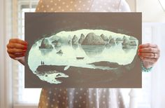 REDUCED PRICE In the Belly of a Beast digital print. $30.00, via Etsy.