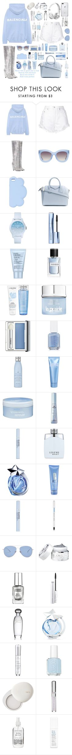 """""""Worth It (perfect)"""" by ciaobella18 ❤ liked on Polyvore featuring Balenciaga, Nobody Denim, Yves Saint Laurent, Alice + Olivia, STELLA McCARTNEY, Givenchy, Lacoste, Estée Lauder, Lancôme and La Prairie"""