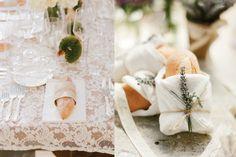 Bread at Place Settings | Elizabeth Anne Designs: The Wedding Blog