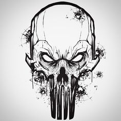 Little vector mouse click warm up with a Punisher Skull #punisher #vector by hydrosevenfour