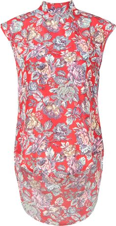 Latest Hits, Latest Fashion Clothes, Red Flowers, Flower Prints, Color Red, Tunic Tops, Turtle Neck, Clothing, Colour Red